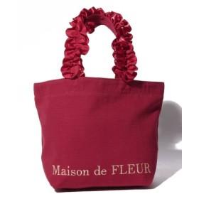 (Maison de FLEUR/メゾンドフルール)フリルハンドルトートSバッグ/レディース レッド