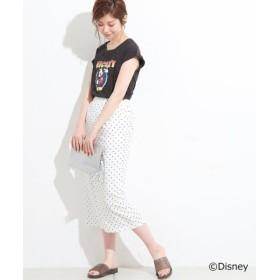 (NICE CLAUP OUTLET/ナイスクラップ アウトレット)【natural couture】ドットロングゆるタイトスカート/レディース オフ