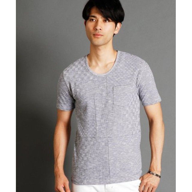 (NICOLE CLUB FOR MEN/ニコルクラブフォーメン)市松柄UネックTシャツ/メンズ 91その他2