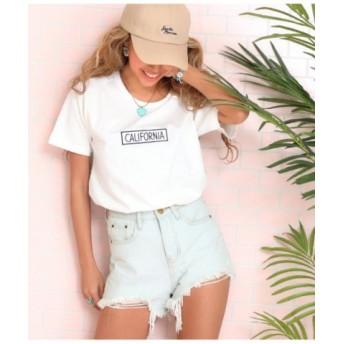 (ANAP/アナップ)CALIFORNIAサガラTシャツ/レディース ホワイト