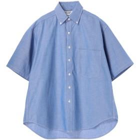 【5,000円以上お買物で送料無料】mens オーガニックオックス半袖ビックシルエットシャツ