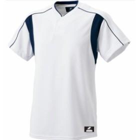 エスエスケイ(SSK) ジュニア・2ボタンプレゲームシャツ SSK-BW2080J 1070 【野球 ユニホーム セカンダリー 少年用】