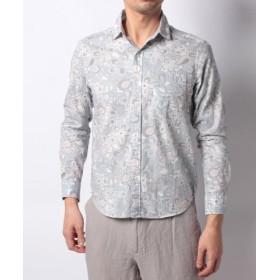 (Men's Bigi/メンズビギ)ヴィンテージ フラワープリントシャツ【VINTAGE ARCHIVES】/メンズ ブルー系