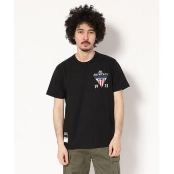 (AVIREX/アヴィレックス)AVIREX/アヴィレックス/パッチド クルーネック Tシャツ/PATCHED CREW NECK T-SHIRT/メンズ BLACK 送料無料