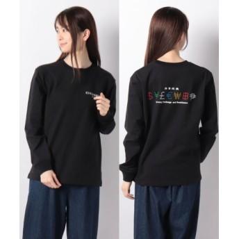 (X-girl/エックスガール)CURRENCY L/S REGULAR TEE/レディース ブラック 送料無料