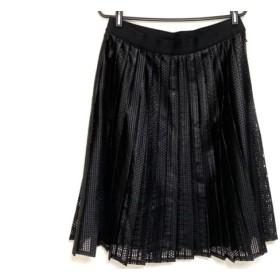 【中古】 ダーマコレクション DAMAcollection スカート レディース 美品 黒 プリーツ
