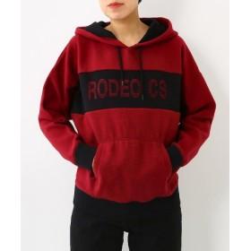 (RODEO CROWNS WIDE BOWL/ロデオクラウンズワイドボウル)ニードルパンチ ロゴ パーカー/レディース BRD