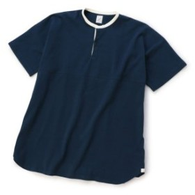 (Men's Bigi/メンズビギ)ロングラグビーシャツ/度詰め天竺/コットン100%/メンズ ダークネイビー 送料無料