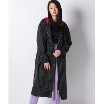 (MARcourt/マーコート)【MIDIUMISOLID】PE HOODED LONG COAT/レディース BLACK 送料無料