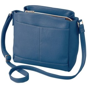 すっきり整頓お出かけショルダーバッグ ■カラー:グレイッシュブルー