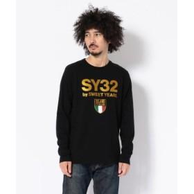 (RoyalFlash/ロイヤルフラッシュ)SY32 by SWEETYEARS/エスワイサーティトゥバイ スィートイヤーズ/エンブレムグラフィックLS Tシャツ/メンズ BLACK 送料無料
