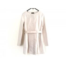 【中古】 モディファイ modify コート サイズ40 M レディース 美品 ベージュ 春・秋物