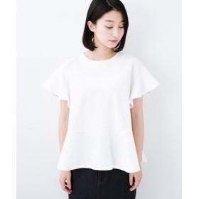 (haco!/ハコ)いつものデニムスタイルを女っぽくしてくれる Tシャツがわりに便利なカットソートップス by que made me/レディース ホワイト