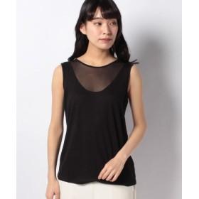 (SISLEY/シスレー)ネット切り替えノースリーブTシャツ・カットソー/レディース ブラック