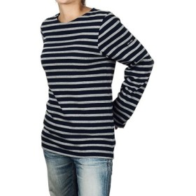 (ECHELLE Liberte/エシェルリベルテ)SAINT JAMES MERIDIEN MODERNE メリディアン Tシャツ 6870 ユニセックス/ユニセックス ダークブルー×グレー