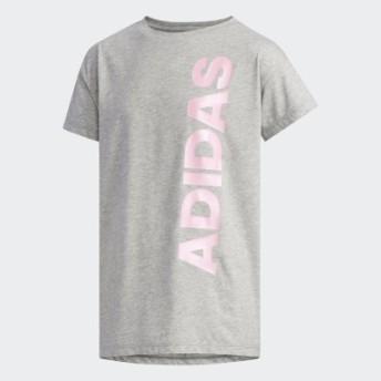 (SPORTS AUTHORITY/販売主:スポーツオーソリティ)アディダス/キッズ/G MH パールリニアロゴ Tシャツ/レディース ミディアムグレイヘザー