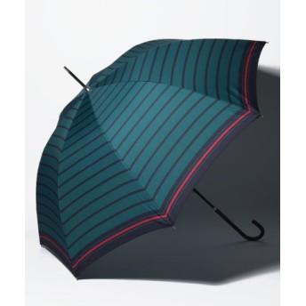 (Afternoon Tea LIVING/アフタヌーンティー・リビング)マリンボーダー長傘 雨傘/レディース グリーン