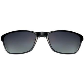 折り畳みクリップサングラス(偏光機能付き) - セシール ■カラー:グレー