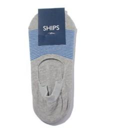 (SHIPS/シップス)SCO: SHIPS(シップス) シューズ イン ボーダー ソックス/メンズ ライトグレー