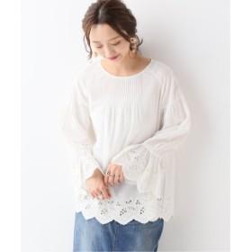 (IENA/イエナ)カット刺繍ブラウス/レディース ホワイト