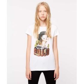 (SISLEY/シスレー)プリント&スパンコール半袖Tシャツ・カットソー/レディース ホワイト