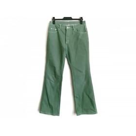 【中古】 ビースリー B3 B-THREE パンツ サイズ34 S レディース グリーン