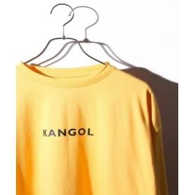 (WEGO/ウィゴー)別注カンゴールプリントロンT/メンズ イエロー