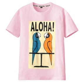 (MB2/エムビーツー)ペイント ボックスロゴ 半袖Tシャツ/レディース ピンク