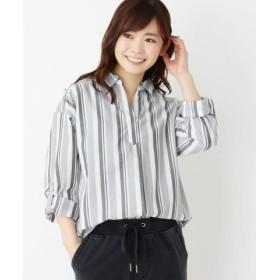 (SHOO・LA・RUE/シューラルー)【2点セット】スキッパーシャツ+タンクトップ/レディース グレー(304)