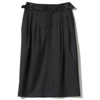 (BEAMS OUTLET/ビームス アウトレット)Demi-Luxe BEAMS/ダブルベルト タックタイトスカート/レディース NAVY 送料無料