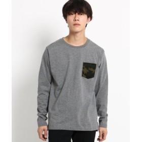 (BASE STATION/ベースステーション)長袖 Tシャツ ポケット切り替え WEB限定/メンズ ディープグレー(215)