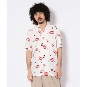 (GARDEN/ガーデン)Aloha Blossom/アロハ ブロッサム/KISS/キス/アロハシャツ/メンズ WHITE 送料無料