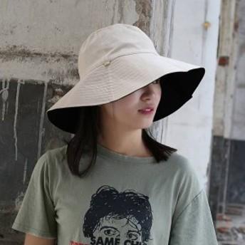 帽子 レディース ば広 折りたためる 紫外線 UVカット帽子 綿 ナチュラルブリム ハット 日焼け対策 折りたたみ 女優帽 飛ばない 夏mz039