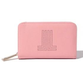 (LANVIN en Bleu/ランバンオンブルー)JLパンチング二つ折財布/レディース ライトピンク