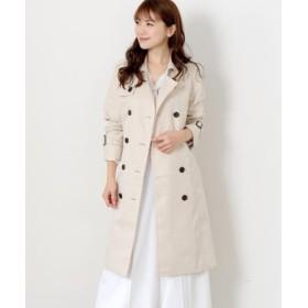 (MEW'S REFINED CLOTHES/ミューズ リファインド クローズ)撥水・防花粉ロングトレンチコート/レディース ベージュ