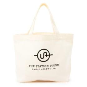 (THE STATION STORE UNITED ARROWS LTD./ザ ステーション ストア ユナイテッドアローズ)<ST>カラー ロゴ トートバッグ S/レディース ホワイト