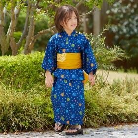 ミキハウス クワガタ&とんぼ柄浴衣(男児用) 紺