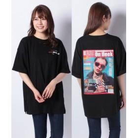 (DAISY MERRY/デイジーメリー)バック転写ビッグTシャツ/レディース ブラック