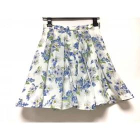 【中古】 アプワイザーリッシェ スカート サイズ0 XS レディース アイボリー ブルー ライトグリーン