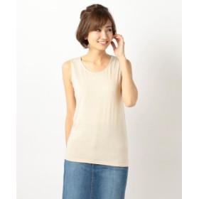 (MEW'S REFINED CLOTHES/ミューズ リファインド クローズ)ラメタンクトップ/レディース ゴールド