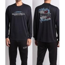 (SPORTS AUTHORITY/販売主:スポーツオーソリティ)エスエーギア/メンズ/長袖グラフィックT BASKETBALL/メンズ ネイビー