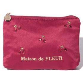 (Maison de FLEUR/メゾンドフルール)チェリーティッシュケース/レディース レッド