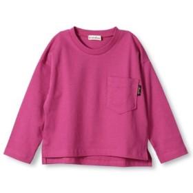 (branshes/ブランシェス)ビックシルエット長袖Tシャツ(80-150cm)/レディース ローズピンク