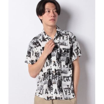 (JEANS MATE/ジーンズメイト)【BLUE STANDARD】レーヨンオープンカラーシャツ/メンズ D