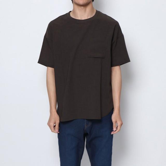 コムサイズム COMME CA ISM ビッグTシャツ (カーキ)