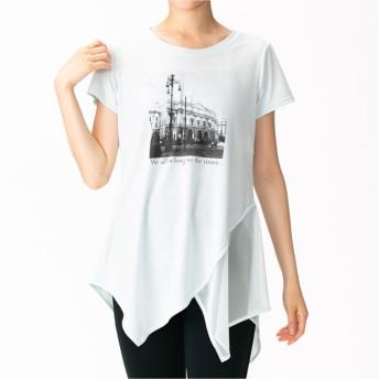 【オンワード】 Chacott(チャコット) ワンピースTシャツ アイスグリーン L レディース