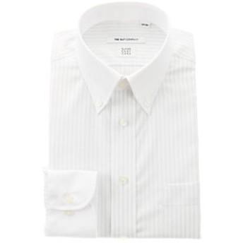 【THE SUIT COMPANY:トップス】【COOL MAX】クレリック&ボタンダウンカラードレスシャツ ストライプ〔EC・FIT〕