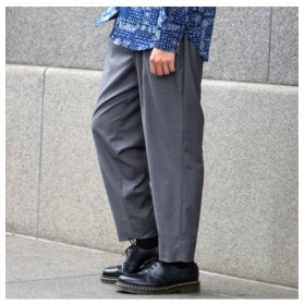 (Men's Bigi/メンズビギ)【smart12月号掲載/中川大志さん着用商品】T/Rストレッチツイル2タックイージーパンツ/メンズ グレー 送料無料