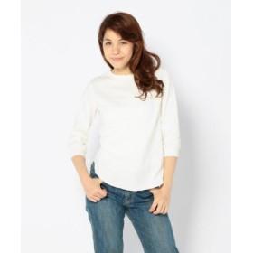 (UNCUT BOUND/アンカットバウンド)Ahe'hee(アヘヘ) 丸胴 八分丈Tシャツ/レディース WHITE 送料無料