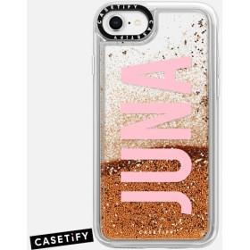 CASETiFY iPhone 8 ケース 名前入りキラキラ ケース イニシャルグリッターケース ケース 名前 ケース 名前 入り